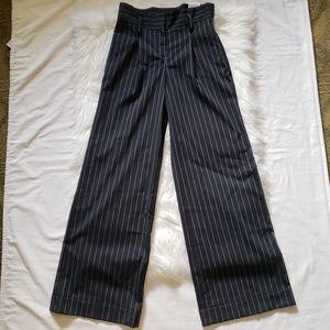NWT Express High Waisted Pinstripe Wide Leg Pant